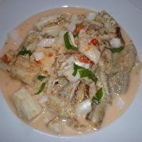 Finadene Birringenas  (Chamorro Grilled Eggplant in Lemon coconut milk finadene)
