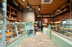 Kogias bakery - picture gallery shop interior design, cafe design, bakery s Bakery Shop Interior, Bakery Shop Design, Shop Interior Design, Cafe Design, Restaurant Design, Retail Design, Design Design, Bakery Store, Bakery Display
