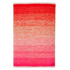 Neon Ombre Pink and Orange Rug #oliverbonas