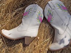 New Hand Painted Women's Cowboy Boots  Dingo by CountrifiedCutie