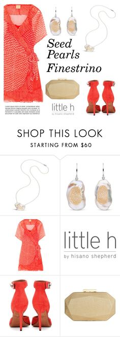 """""""Seed Pearls Finestrino"""" by littlehjewelry ❤ liked on Polyvore featuring Cloe Cassandro, Givenchy and INC International Concepts"""