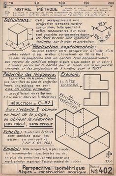 Manuel du dessinateur : Perspective isométrique - 1