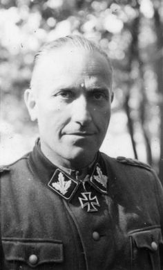 Hermann Prieß (1901 – 1985) was the commander of 3rd SS Division Totenkopf following the death of Theodor Eicke in February 1943.He was promoted to SS-Gruppenführer und Generalleutnant der Waffen-SS on April 20, 1944. On October 30, 1944 he became the commanding officer of the 1st SS-Panzerkorps Leibstandarte and led it during the Battle of the Bulge.After the war, Hermann Prieß was convicted to 20 years imprisonment but was released in 1954.
