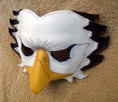 Bald Eagle Leather Mask by merimask.deviantart.com on @deviantART