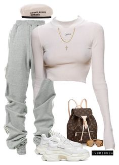 """""""io"""" by ivorionda ❤ liked on Polyvore featuring Y/Project, Louis Vuitton, Balenciaga, Karen Walker and Luv Aj"""