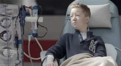 """Michael Stapf lies pale and weak on a hospital bed, .. next to a him dialysis machine. The young man hopes for seven years for a donor kidney, while the daily hemodialysis is his destiny.  With the action at the station of the airport, the foundation """"For life"""" ( """"Fürs Leben"""") wants to make attention to a situation that is every day over 12,000 people in Germany exposed... http://osocio.org/message/extreme_waiting_organ_donation/"""