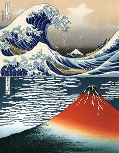 Hokusai and two of my favorite of his woodblock prints.
