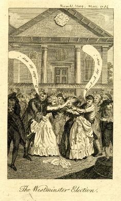 The Westminster election, 1784, Etching