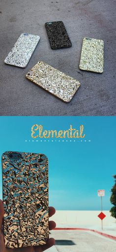Elemental Cases - Crystalline iPhone 6 & iPhone 6 Plus Cases in Gold x Silver x Titanium Black x Champagne Gold