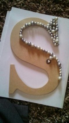 This would be cool to do for a Christmas or birthday gift,just get a wooden letter, beads, and glue! If you wanted you could paint your letter!