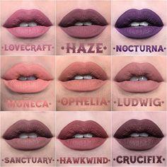 """31695c6e95a Kat Von D on Instagram: """"New @katvondbeauty Everlasting Liquid Lip shades  [part III]. Fun facts + info below: 👛LOVECRAFT: finally! Our beloved  Studded Kiss ..."""