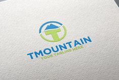 Mountain | T Logo | Letter by REDVY on @creativemarket