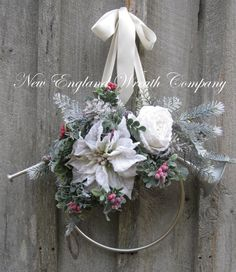 Christmas Wreath Holiday Wreath Frosted Pine by NewEnglandWreath, $89.00