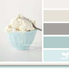 This Design Seeds palette shows ice cream as the inspiration but these are beautiful coastal possibilities. Love this palette for downstairs! Wall Colors, House Colors, Spa Paint Colors, Spa Colors, Design Seeds, Home And Deco, Color Pallets, My New Room, Feng Shui