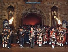 Massed Pipes and Drums at the Edinburgh Military Tattoo.  