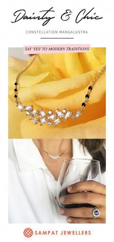 Unique mangalsutra for everyday wear. So simple and delicate to match your western wear. Made with 18K gold and natural diamond. Designer mangalsutra for the modern times. #bohobridaljewelrysimple