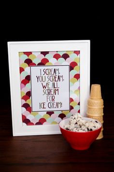 We all Scream for Ice Cream Print!