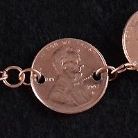 Jewelry making idea with coins and pennies