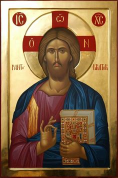 Christ the Ruler of All. Images Of Christ, Religious Images, Religious Icons, Religious Art, Byzantine Icons, Byzantine Art, Religion, Christus Pantokrator, Greek Icons