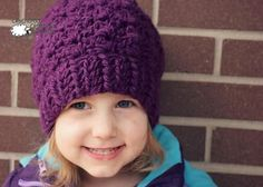 This bulky crochet hat pattern, available in all sizes preemie through large adult, will be the hit of the holiday season!
