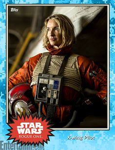 Oct 2016 - Lady X-Wing Pilot -  'Rogue One': New 'Star Wars' images revealed in Topps Trading Cards – exclusive  #StarWars #RogueOne