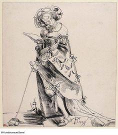 Dirne führt eine Maus spazieren, 1529 ?, Urs Graf (148-1527/28)