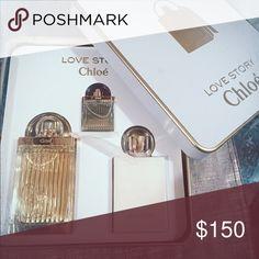 Chloe perfume set (75ml) CHLOE LOVE STORY BY CHLOE 3 PIECE GIFT SET THIS SET CONTAINS: CHLOE LOVE STROY BY CHLOE EAU DE PARFUM NATURAL SPRAY - VAPORISATEUR 75 ML/2.5 FL.OZ.(Country/Region of Manufacture : FRANCE) CHLOE LOVE STORY BY CHLOE PERFUMED BODY LOTION 100 ML/3.4 FL.OZ.(Country/Region of Manufacture : MONACO) CHLOE LOVE STORY BY CHLOE EAU DE PARFUM SPLASH 7.5 ML/0.25 FL.OZ.(Country/Region of Manufacture : FRANCE)  MANUFACTURE BY PARFUMS CHLOE  NEW IN BOX AS PICTURED **All items are…