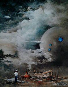 Lost Sea  Oilpaintingoncanvas  Painter.Selim Güventürk  40x50 cms.dim.  Ankara Atolyeden