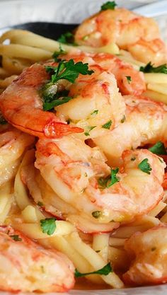 Linguine with Shrimp, Garlic and Lemon
