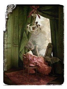 Miss Clara, le boudoir Paper Dress Art, Miss Clara, Architectural Sculpture, Paper Artist, Doll Maker, Paper Clay, Fairy Land, Box Art, Beautiful Dolls