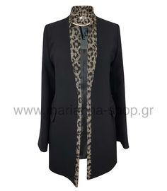 Μακρύ σακάκι. Γυναικείο σακάκι χωρίς πέτα ελαφρά μεσάτο. Δεν κουμπώνει. Μήκος 80εκ. μήκος μανικιού 63εκ.17%ray-78%pes-5%sp.Ελληνική ραφή. Blazers, Sweaters, Shopping, Fashion, Moda, Fashion Styles, Blazer, Fasion, Sweater