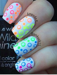 OMG these are by far the cutest nails ever they would be perfect for summer with all of the neon colors
