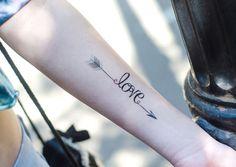 Tatouages temporaires liberté amour espoir - 9€ - Les Esthètes