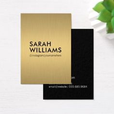 Simple professional gold metallic business card simple professional gold metallic business card minimalist office gifts personalize office cyo custom reheart Choice Image