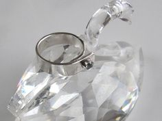 Topaz Pinky Ring Sterling Overlap Band by DixSterling on Etsy. Find it in my esty shop.