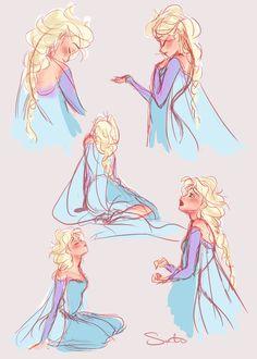 Elsa Sketches by samanthadoodles on deviantART