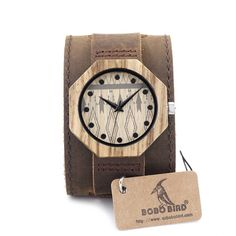 f5838752c4e New Men s Bamboo Wooden Watches With Genuine Cowhide Leather Band Luxury  Wood Watches for Men Best Gifts Item