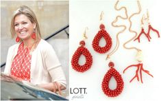MYROYALS &HOLLYWOOD FASHİON: Queen Máxima and LOTT. gioielli earrings