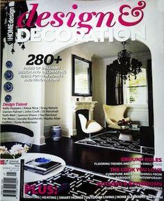Design & Decorating interior design magazine, home decorating magazine, shelter magazine, architecture magazine, lifestyle magazine