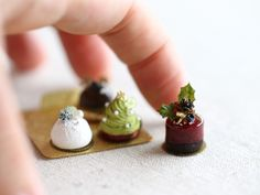 2017.10 Miniature Christmas Cakes. Scale 1/6 ♡ ♡ By shibazukeparipari