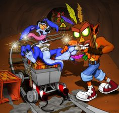 A mysterious masked individual seems to be messing with Ripper Roo. Crazy VS N. Jak & Daxter, Video Game Movies, Crash Bandicoot, Geek Art, Mario Bros, Cool Drawings, Dragon Ball, Videogames, Anime
