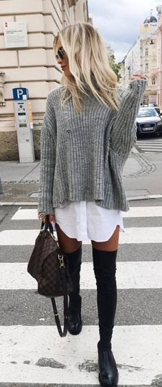 autumn winter trends 2018 2019 we love the new proposals of .- autumn winter trends 2018 2019 we love the new proposals of the m – Leben Autumn / Winter Trends We love the new proposals of the m – - Winter Trends, Mode Outfits, Stylish Outfits, Fashion Outfits, White Outfits, Black Otk Boots Outfits, Fashion Clothes, Fashion Ideas, Clothes Women