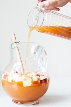 Jazz up your Halloween festivities with this delicious, seasonal caramel apple sangria! Get the recipe at The Sweetest Occasion