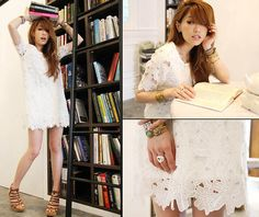 6a588fc1d6c6 Little White Lies Skater Dress With Lace Details