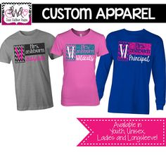 CUSTOM APPAREL: Custom Teacher, Name and Grade School Sprit Shirt, Teacher T-Shirt