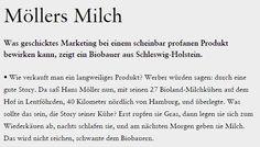 Öko Melkburen: Möllers Milch - brand eins online Brand Management, Marketing, Math Equations, Milk Supply, Branding