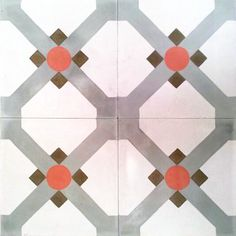 Contemporary design, Contemporáneo,Hydraulic Andalusian Tiles for both the floor and wall. MOD-124
