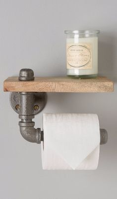 Reclaimed Sycamore Toilet Paper Holder