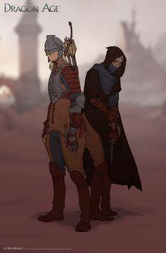 World of Thedas 2 - Garahel and Isseya by MattRhodesArt on DeviantArt