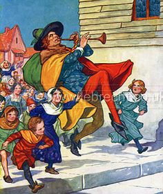 pied piper of hamelin colouring book - Google Search